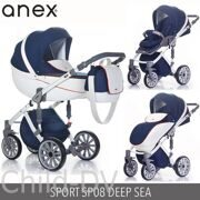 Модульная VIP коляска 2 в 1 Anex Sport Q1(SP08) DEEP SEA